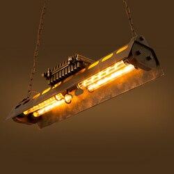 Loft lámpara colgante de hierro 4 Edison bombillas Lámpara de Metal Punk Industrial para club nocturno Vintage Retro Deco accesorio de iluminación