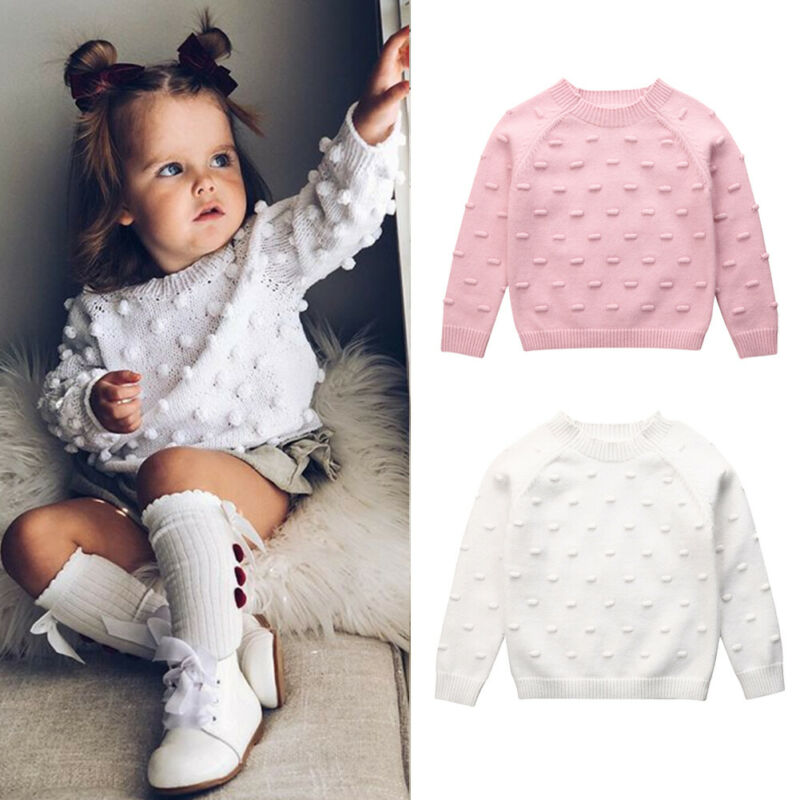 Fall Autumn Infant Baby Girl Winter Clothes Knitted Long Sleeves Wool Sweaters Woolen Pullovers Fashion Tops