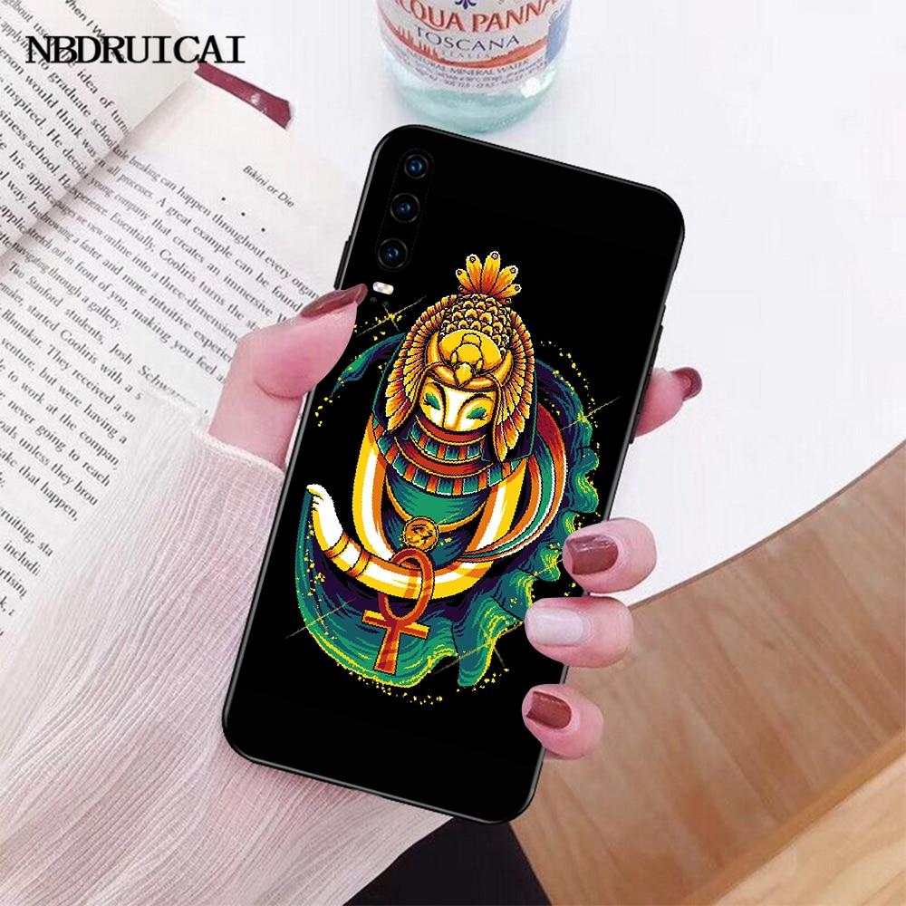NBDRUICAI Egypt Nefertiti Anubis Ankh Pharaoh DIY Printing Phone Case cover for Huawei P30 P20 P10 P9 P8 Mate 20 10 Pro Lite