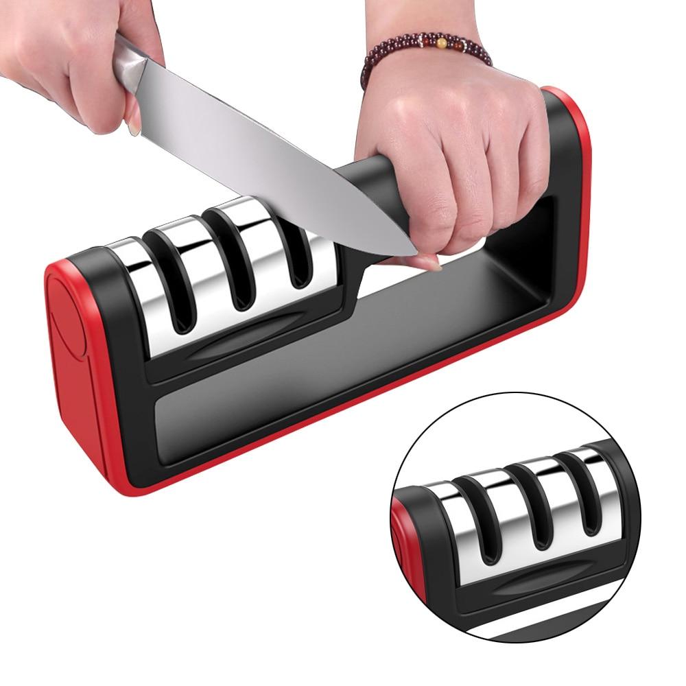 3 Stages Professional Knife Sharpener Sharpening Stone Grinder Knives Whetstone Tungsten Diamond Ceramic Sharpener Tool
