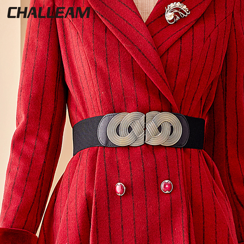 Woman Elastic Belt Dress Dress Vintage Elastic Wide Elastic Waist Fashion Decoration Belts For Women X218