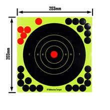 8 Inch Shooting Target Paper Adhesive Reactivity Targets Stickers Practice Training Hunting Accessories Gun Rifle Pistol Binders