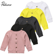 Pudcoco Newborn Baby Girl Clothes Long Sleeve Knitted Sweater Cardigan Outerwear Toddler Casual Tops