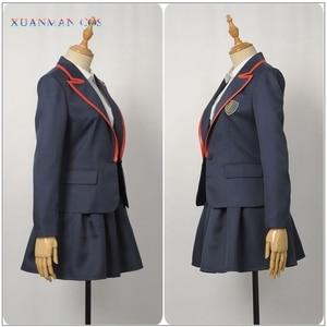 Image 2 - 엘리트 학교 제복 제복 성인 여성 자켓 셔츠 치마 Pleated JK 천을 TV 시리즈 코스프레 할로윈