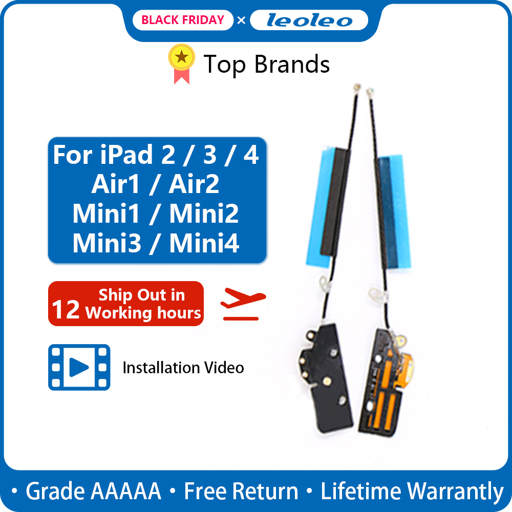Leoleo New Wi-Fi Antenna Signal Flex Cable For IPad 2 3 4 Air 1 Air 2 Mini 1 2 3 4 Bluetooth Wireless Wifi Ribbon Replacement