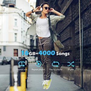 Image 5 - Bluetooth MP3 Horloge Met Touch Screen 8/16 Gb Clip MP3 Speler Voor Hardlopen Fietsen Wandelen Ondersteuning Opname, fm Radio