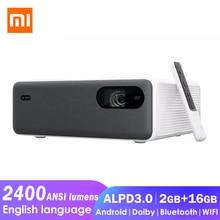 Origianl xiaomi mijiaレーザープロジェクター 2400 ansiルーメン 1920*1080 1080pフルhd 3Dプロジェクターホームシネマアンドロイドwifiミュウテレビ