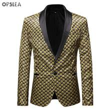 Opslea African Men Casual Personality Blazer Dashiki Fashion Party Print Suit Jacket 2019 Autumn And Winter New Slim Fit Coat(China)