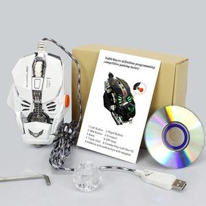 Image 5 - Professional Grade เมาส์เกมแบบมีสาย 4000DPI โปรแกรม USB เม้าส์ LED Optical Sens สำหรับแล็ปท็อปคอมพิวเตอร์