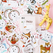 45 Pcs/box Cute cartoon stickers dog pet  paper decoration DIY diary scrapbooking planner label