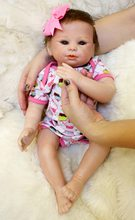 Silicone Baby Mini Dolls 18 inch Silicone Vinyl Reborn Baby Doll Lifelike Girl Toddler Play Toys Cute Bebe Boneca Birthday Gifts(China)