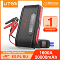 UTRAI 20000mAh 1600A mini auto Starthilfe Tragbare Notfall Batterie Power Bank Auto Booster messen spannung der auto batterie