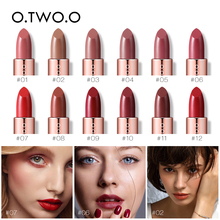 O.TWO.O 12PCS Plum Blossom Lipstick Nude Rich Color Waterproof Moistur