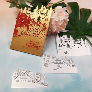 Image 1 - Christmas card metal cutting knife die 2019 new DIY scrapbook, used for card paper card decoration mold