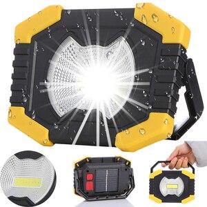 Портативный Светодиодный точечный светильник 20 Вт, рабочий светильник на 180 градусов, фонарики на солнечной батарее с зарядкой от USB, для кем...