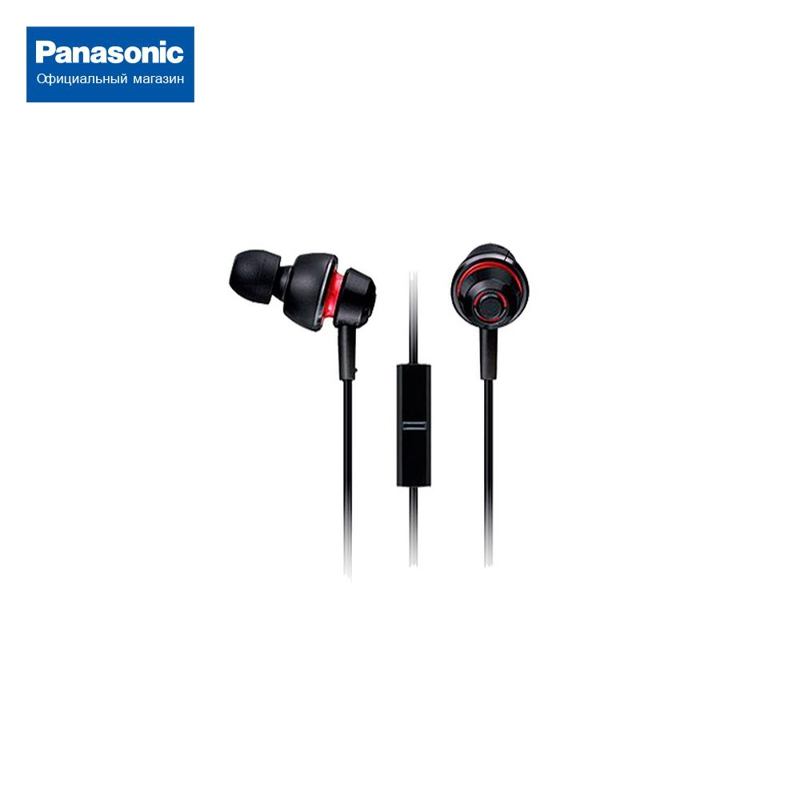 In-ear headphones with mic for Panasonic RP-HJX6MGC-K