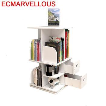 Estantería de escalera muebles Vintage estantería Madera giratoria estante de libros librería...