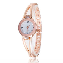 1PCS New Fashion Luxury Rhinestone Watches Women Stainless Steel Quartz Bracelet