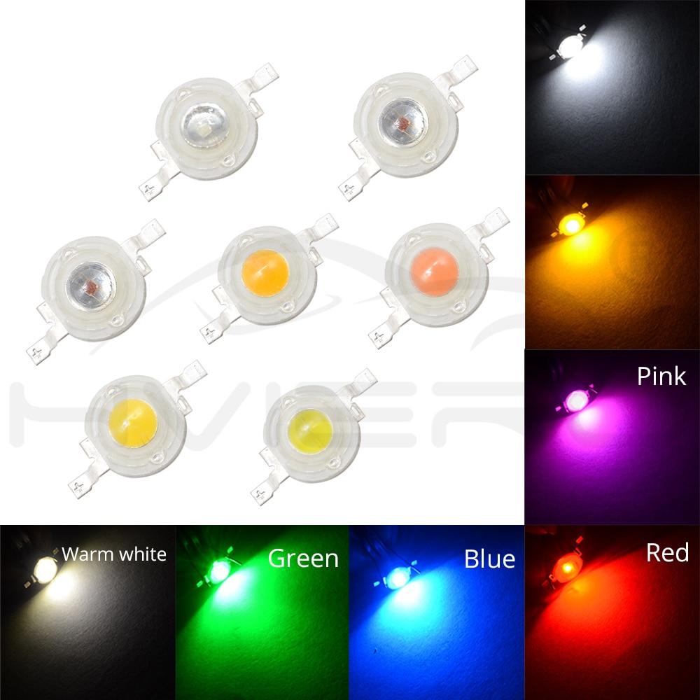 3W High Power LED Chip Light Beads White Red Blue Green IR light-emitting diode