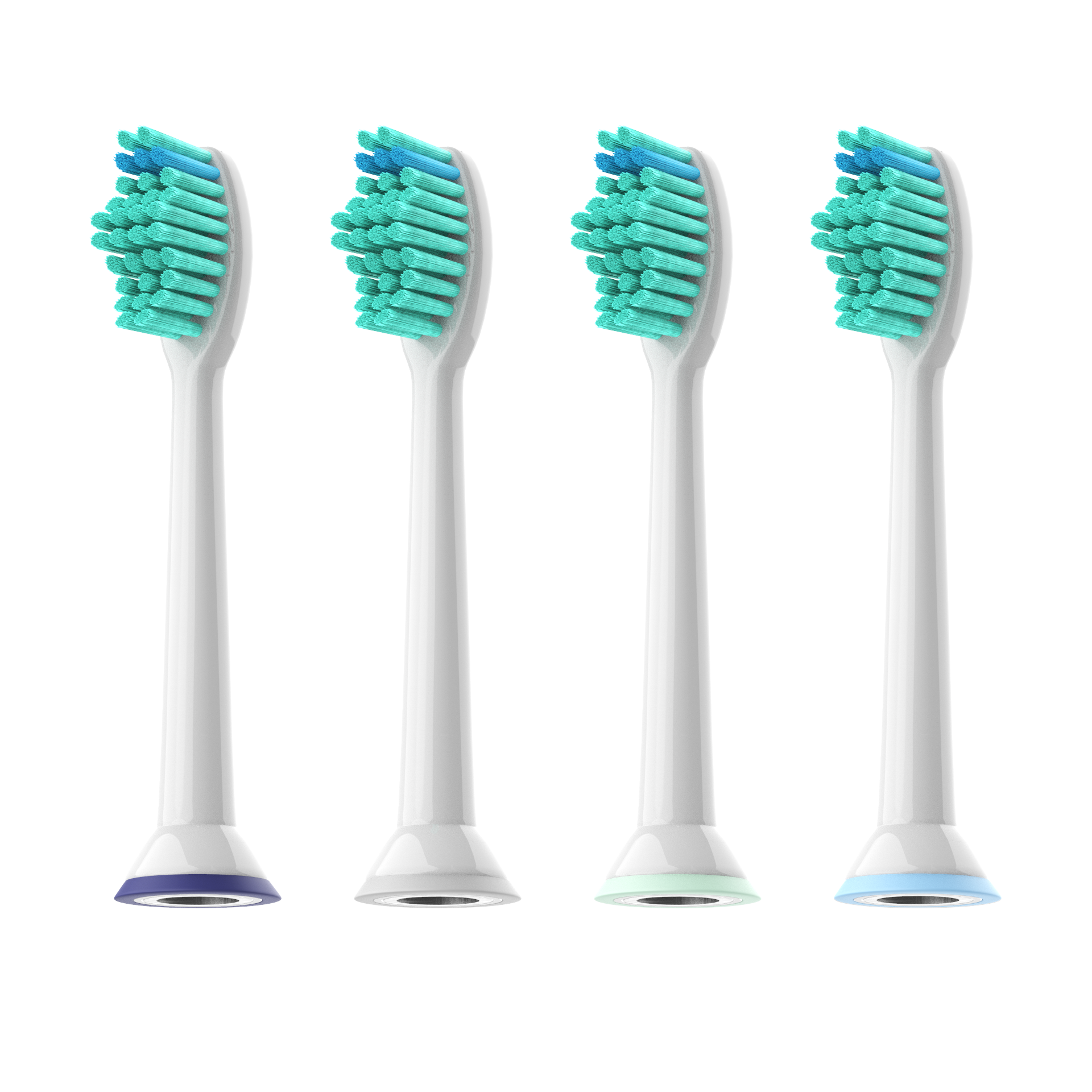 4pcs Toothbrush Heads for Philips Sonicare ProResults HX6013//66 HX6530 HX9340