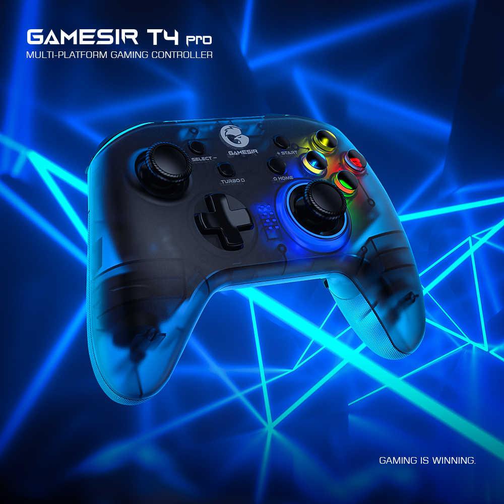 GameSir T4 Pro kontroler gier z Bluetooth 2.4GHz bezprzewodowy pad do gier z klucz USB do przełącznika Nintendo/iOS/Android / PC