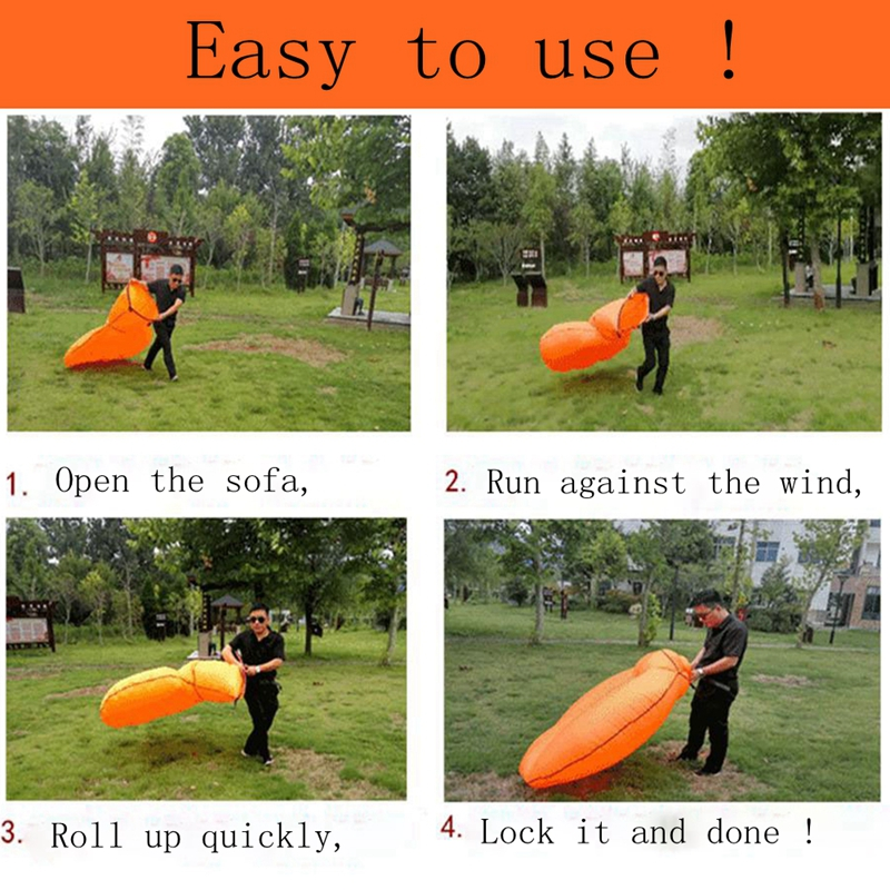 Fast Inflatable Air Sofa Bed Sleeping Chair Inflatable Couch Lazy Relaxing Beach Sofa Lay Bag 2019 Trend Outdoor Furniture 4