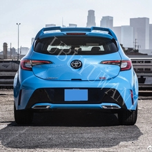 For TOYOTA corolla hatchback Spoiler 2019 High Quality ABS Material Car Rear Wing Primer Color Rear Spoiler for toyota yaris yarisl spoiler abs material car rear wing primer color rear spoiler for toyota yaris l spoiler 2014 2017