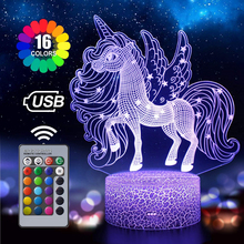 7 Color Touch Lamp Cracked Small Horse Baby Room Night Light Color Changing Light Remote Control Colorful Table Lamp