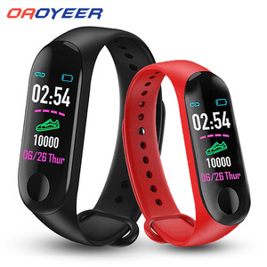 M3Plus Smart Band Bracelet Health Blood Heart Rate Monitor Waterproof Smart Watch Fitness Tracker Watches For Android iOS