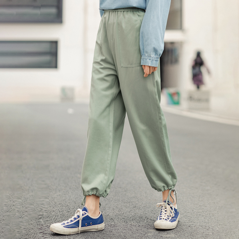 Image 3 - INMAN 2020 Spring New Arrival  Concise Style All match Pure Color Literary Leisure Ankle length Pencil PantPants & Capris   -