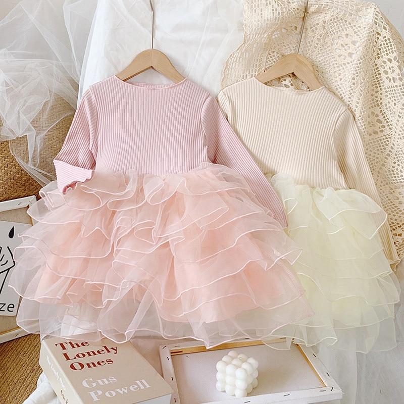 Children dress 2020 New Autumn Patchwork princess dress fashion girls TuTu dress party dress toddler kids clothes