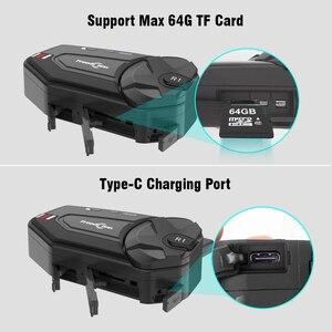Image 5 - Freedconn R1 Plus Camera HD 1080P WiFi Bluetooth 5.0 Xe Máy Nhóm Liên Lạc Nội Bộ Chống Nước 6 Người Đi FM Bluetooth Mũ Bảo Hiểm Tai Nghe