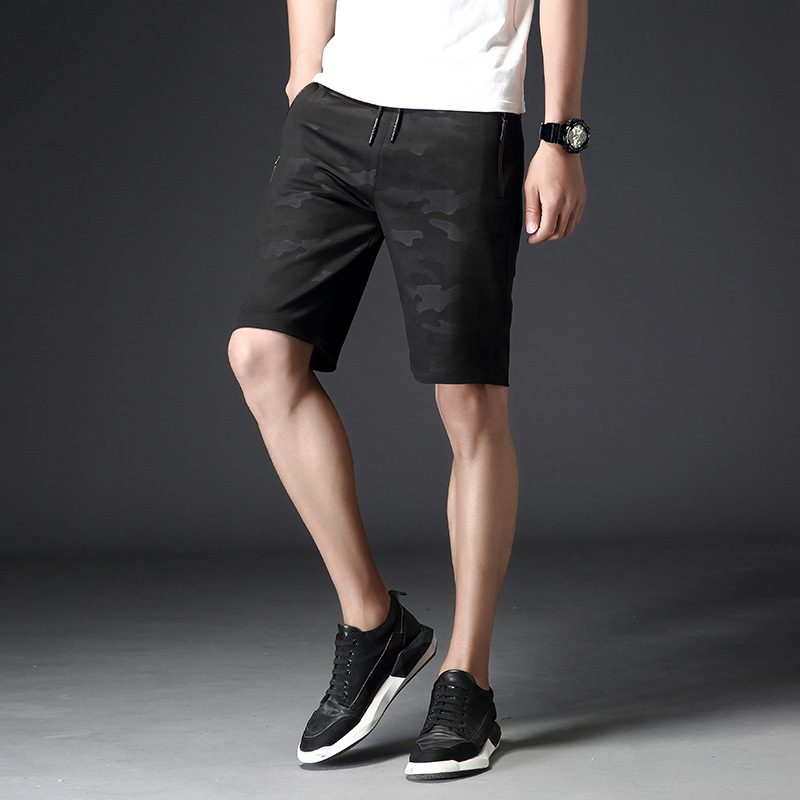 Summer MEN'S Shorts Fashion Casual Striped Camouflage Pants Men's Trend Elasticity Shorts