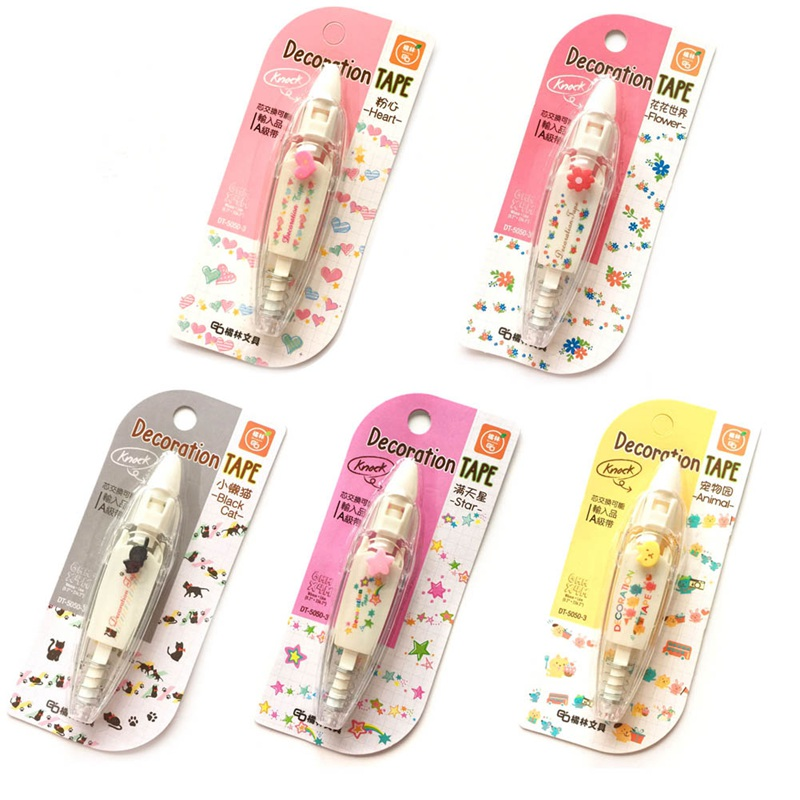 2018 New Arrival Kawaii Animals Press Type Decorative Correction Tape Diary Stationery School Supply