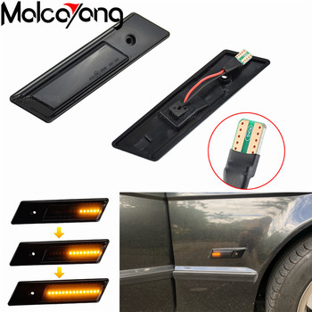 For BMW E32 E34 E36 Side Marker Lights Streamer Models Smoked Shell Cover Led Dynamic Turn Signal Light Sequential Blinker Lamp image