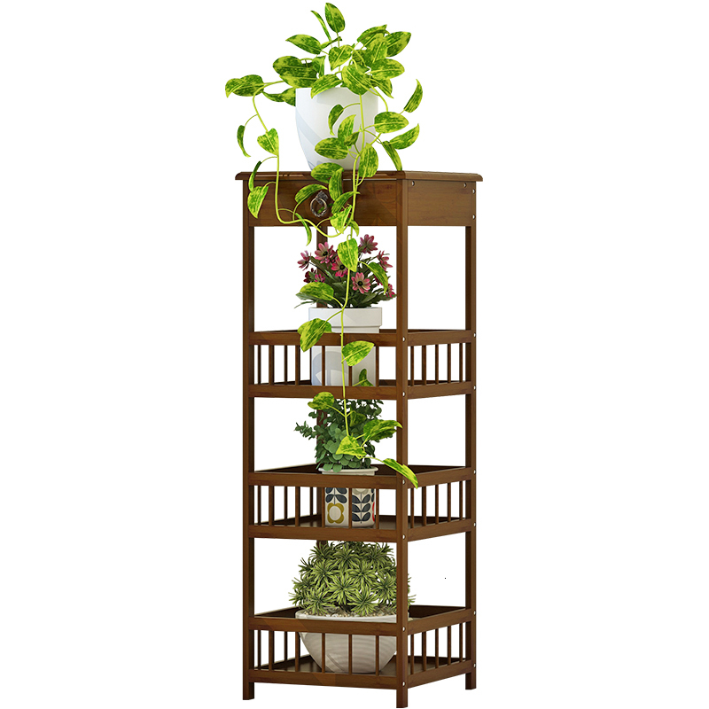 Airs Wood Multi-storey A Living Room Indoor To Ground Simplicity Green Radish Meat Flower Stand Flower Several Fish Tank Shelf