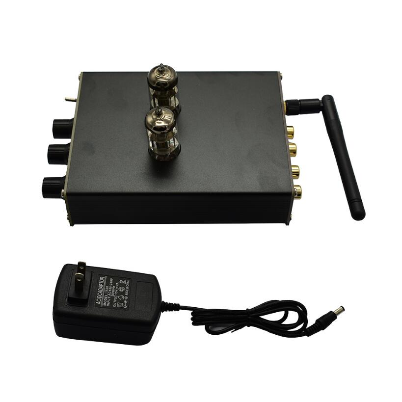 QCC3003 <font><b>Bluetooth</b></font> 5.0 HiFi <font><b>Tube</b></font> <font><b>Preamplifier</b></font> preamp 2 tone Headphone Amplifier With DAC PCM5102 + Power Supply image