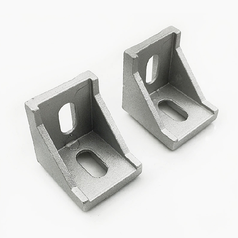 Brackets Corner Fitting Angle Aluminum L Connector Bracket Fastener For 2020 3030 4040 Industrial Aluminum Profile
