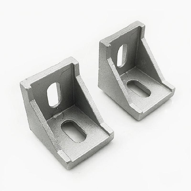 Brackets Corner Fitting Angle Aluminum L Connector Bracket Fastener For 2020 3030 4040 Industrial Aluminum Profile