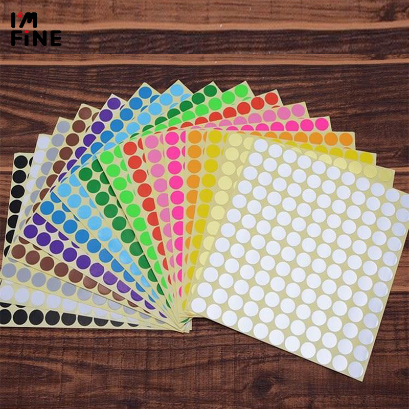 8/10/13/16/19/25/32/50/100/mm 12 Colors Round Small Colorful Pink Black White Sticker Circle Labels Round Sticker Labels