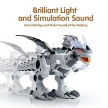 Электронная модель механического распылителя динозавра со светом