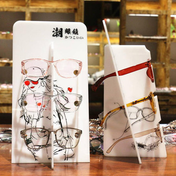 3 Layers Glasses Eyeglasses Sunglasses Frame Display Rack Organizer Shelf
