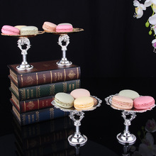2 Piece Gold white Cake Stand Set Round Metal Cupcake Dessert Display Pedestal Wedding Party stand Decora