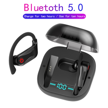TWS Bluetooth 5.0 Earphone Ear Hook Wireless Earbud HiFi Support Bass With 950mAh Charging Case for iPhone Huawei Samsung PK Q32