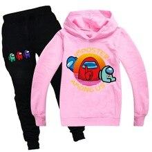 Among Us Clothing-Sets Hoodies Kids Tracksuits Girls/boys Top Pants 2pcs-Set Child