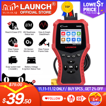 LAUNCH X431 CR3008 OBD2 Automotive Scanner OBDII Code Reader Diagnostic Tool Check Engine Battery Voltage Free Update pk KW850