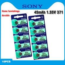 10 AG6 pçs/lote SONY Originais 1.5V Óxido De Prata Botão Célula Baterias SR920SW SR69 SG6 LR69 171 920 Assista Coin Baterias