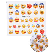 Stickers for Nails Water Decals Emoticon Nail Sticker Slider Art design Decoration Manicure Foil Adhesive Wraps Tools Pegatinas стоимость