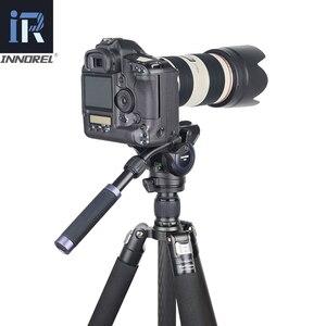 Image 5 - RT75CL المهنية 10 طبقات من ألياف الكربون ترايبود Monopod للكاميرا DSLR مع مزدوجة بانورامية منخفضة الشخصي الكرة رئيس السائل الرأس