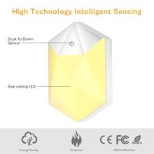 2pcs Plug-in LED Night Light Auto Dusk-to-Dawn Sensor Warm Lights for Hallway Home Decoration Lamp EU/US Plug
